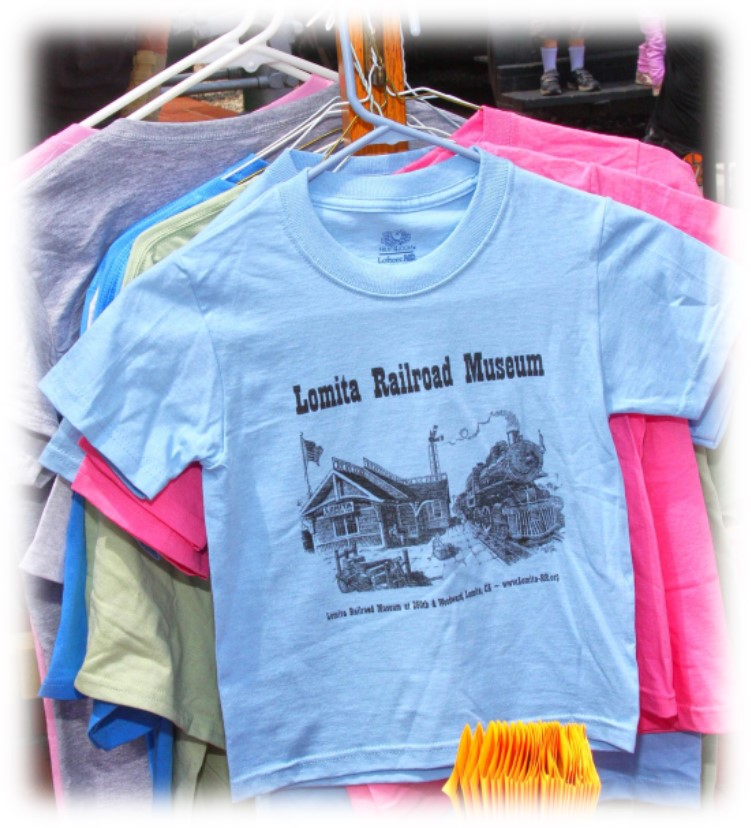 Picture of Lomita Railroad Museum T-shirts on hanger