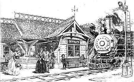 Drawing of Lomita Railroad Museum entry