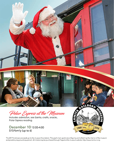 Lomita Railroad Museum 2017 Events Flyer, page 2